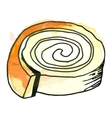 Sweet roll vector image