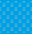 three plants pattern seamless blue vector image vector image