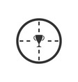trophy target icon flat vector image vector image