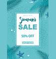 turquoise summer sale background vector image
