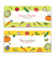vegetables cute banner background template with vector image vector image