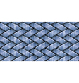 weaving jeans vector image vector image