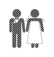 Wedding couple sign vector image
