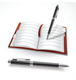 writing in a journal vector image vector image