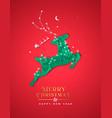 year paper cut reindeer winter city vector image