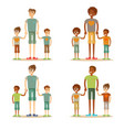 young dad is enjoying time with his child vector image vector image