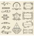 Set Logos framework individual ornament elements vector image