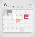Web calendar vector image
