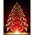 christmas golden vector image