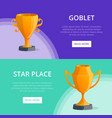 star place victory prize banners vector image