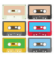 audio tape set i vector image