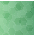 Background with green honeycombs vector image