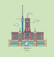 banner berlin city in line trendy styletravel vector image vector image