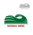 Baseball or softball stadium symbol vector image vector image