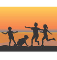 beach children vector image vector image