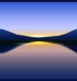 beauty horizon travel background sky vector image