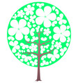blooming tree spring transparent flowers vector image vector image