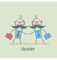 Business meeting dealers vector image
