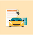 car insurance with claim form vector image vector image
