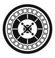 casino roulette icon simple style vector image vector image