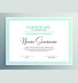 certificate of appreciation template design vector image vector image