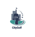 city golf logo sign symbol icon vector image vector image