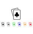 clubs gambling cards icon vector image