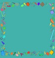 colorful school stuff making a frame vector image vector image