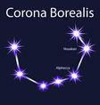 constellation corona borealis with stars nusakan vector image vector image