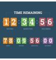 Countdown mechanical clock vector image vector image