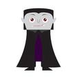 cute halloween vampire cartoon character vector image vector image