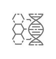 dna structure genetics molecule analysis line vector image