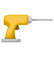 drill tool icon colorful silhouette with half vector image vector image
