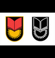 emblem soviet school uniform vector image vector image