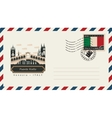 envelope with postage stamp with Puente Rialto vector image vector image