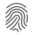 finger print line icon development and business vector image
