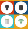 flat icon garment set of uniform stylish apparel vector image vector image
