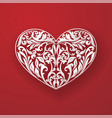 floral hearts red wallpaper vector image vector image