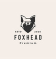 fox head hipster vintage logo icon vector image