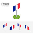 france flag set of 3d isometric icons vector image vector image