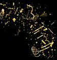 golden confetti gold texture glitter vector image