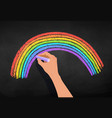 hand drawing rainbow arc vector image vector image