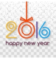 Happy New Year 2016 Creative Colorful Snowing vector image