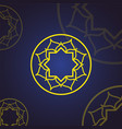 islamic flower mandala vintage decorative vector image