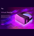 isometric virtual reality concept in ultraviolet vector image