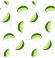 lime slices seamless pattern bright green citrus vector image vector image
