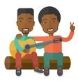 Men playing guitar vector image