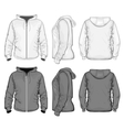 Mens hooded sweat-shirt with zipper vector image vector image