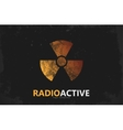 Nuclear logo Radioactive logo design Radiation vector image vector image