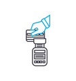 payphone transaction thin line stroke icon vector image